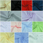 "100% Cotton Fabric Sheeting Plain Solid Colours per metre 63""160cm wide Material"