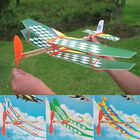 Rubber Band Elastic Powered Glider Flying Plane Airplane DIY Kids Toy Gift New