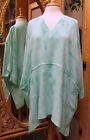 Dairi Moroccan Crystal Dye V Neck Long Tunic Style 2126 2 Pockets Fits Med to 3X