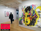 Massive  Art Street Painting Canvas Girl Face Abstract  By Pepe