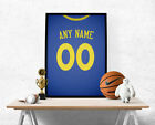 Golden State Warriors Jersey Poster -Personalized Name & Number FREE US SHIPPING on eBay