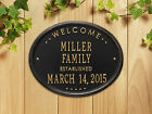 """Welcome Oval """"Family"""" Established Personalzied Plaque"""