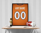 Denver Broncos Jersey Poster - Personalized Name & Number FREE US SHIPPING $15.0 USD on eBay