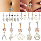Stainless Steel Crystal Belly Ring Body Piercing Jewelry Navel Pendant Barbells