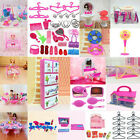 Dollhouse Miniature Furniture Accessories For Barbie Kitchen Living Room Toys