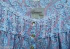 """NWT Large Eileen West Paisley Long Slv 50"""" Ballet Jersey Cotton Knit Nightgown"""