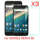3X Tempered Glass PET Soft Screen Protector Film For Google LG Nexus 5X (2015)
