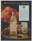 1954 Seagram's Ancient Bottle Gin Golden Dry Martini Cocktail Magazine Print Ad