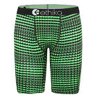 Ethika Green Checks Men/Woman Long Boxer Underwear Sport Short Pant S/M/L