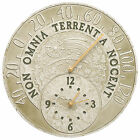 "Celestial 14"" Indoor/Outdoor Wall Clock & Thermometer Combo"