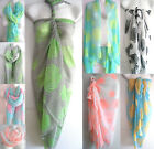 New Women Summer Pareo Sarong Beach Bikini Swimwear Cover Up Long Scarf Wrap 1