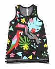 Deux par Deux Girls' Black Tank Top Jungle Pop, Sizes 5-12