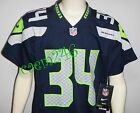 Seahawks Blue Nike Home Game Jersey #34 THOMAS RAWLS Fan Boys Youth S, M, or L