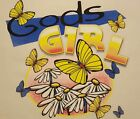 CHRISTIAN OUTFITTERS GOD'S GIRL BUTTERFLIES & FLOWERS  JESUS SHIRT #1144