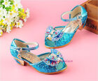 New Kids Young Girls Dress Princess High-Heeled Sandals Summer Colorful Crystal