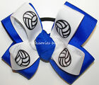 Volleyball Pigtail Bow Electric Blue Color Team Ribbons Mascot Hair Accessory