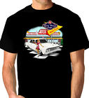 FORD   ZA  FAIRLANE  500  289 V8  RETRO  50's  60's  ROCK & ROLL  BLACK  TSHIRT