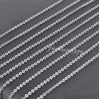 """Women's Wholesale 16""""-24"""" 1.5/2/2.5/3.0mm Stainless Steel Silver Rolo Necklace"""