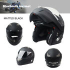 Freedconn Half Full Face Motorcycle Motorbike Helmet + Bluetooth BT Interphone