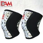 DAM Camo Knee Sleeve Powerlifting Weightlifting Patella Support Brace Protector
