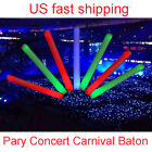12/24/60Pcs LED Light-Up Foam Sticks Rave Glow Baton Wands Wedding DJ Party