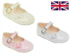 Baby Girls Pram Shoes - Christening Party Ivory Pink White - EARLY DAYS BAYPODS