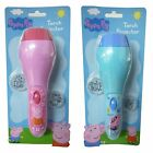 Peppa Pig Toy Torch With 2 x Projector Lenses In Pink Peppa OR Blue George New
