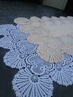6 x Vinyl lace wipeable place table dinner mats look like the real thing
