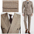 Beige Double Breasted Slim Fit Lounge Suit Dress Code Cheap Men s Suits UK US