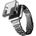 38/42mm Stainless Steel Strap Watch Band wi/ Case Cover For Apple Watch iWatch 2