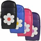 Mala Leather Molly Flower Zipped Glasses Soft Case Specs Sunglasses Front Pocket