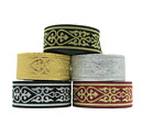 1m Jacquard Ribbon/Trim Medieval Heart 33mm width Various colours available