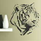 WHITE TIGER HEAD BIG CAT WALL DECAL TRANSFER LARGE REMOVABLE VINYL STICKER CA2