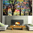 Large Art Painting Tree Forest Rainbows Abstract Canvas Australia by Pepe