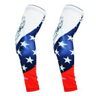 COOLOMG 2PCS Youth Men Compression Arm Pad Sleeve USA United States Eagle XXS-XL