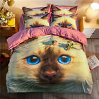 5D Cat Pattern Bedding Set Duvet Cover Set Home Textile Cover Quilt Cover Lovely
