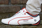 NEW** PUMA BMW MS FUTURE CAT M1 MEN'S SHOES WHITE HIGH RISK RED 305567 02