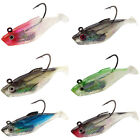 6pcs Soft Lead Jigging Fishing Lure Soft Silicone Jig Head Real Lead Weight Bait