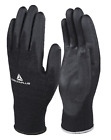 NEW MENS LADIES 12 PACK WHITE PU PALM COATED WORK HAND SAFETY PROTECTION GLOVES