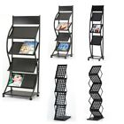 A4 BROCHURE LITERATURE DISPLAY STAND MAGAZINE RACK FOR RECEPTION TROLLEY LEAFLET