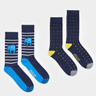 Joules Mens Single Pack Bamboo Socks One Size (7-12) Styles Spot or Bull Dog