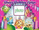 Shopkins Personalized Edible Print Premium Cake Topper Frosting Sheets 3 Sizes