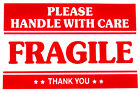 2 x 3 FRAGILE HANDLE WITH CARE Stickers Thank you  #QS01