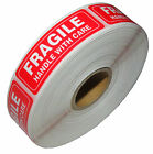 "FRAGILE STICKER 1"" x 3"" FRAGILE HANDLE WITH CARE Stickers   USPS SHIP USA SELLER"