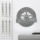 Racing Wheel Personalized Garage Sign