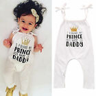 US Newborn Baby Girl Halter Bodysuit Romper Jumpsuit Toddler Clothes Outfits