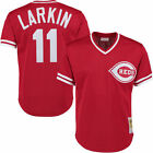 MITCHELL  NESS CINCINNATI REDS MESH AUTHENTIC BP JERSEY 11 BARRY LARKIN