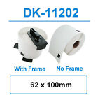 Compatible  DK11202 (62x100mm) Brother Address Labels WITH FRAME / No Frame