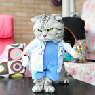 Pet Dog Cat Costume Suit Clothes Costumes Pirate Police Doctor Funny Party Dress