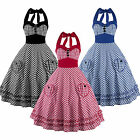 50s Vintage Retro Womens Rockabilly Swing Housewife Formal Party Dress Plus Size
